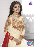Vinay Fashion 3936 Beige and Red Georgette  Designer Gawn