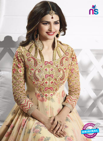 Vinay Fashion 3938 Beige and Multicolor Georgette  Designer Gawn