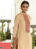 Ganga 3950 Beige & Peach Color Lawn Cotton Designer Suit