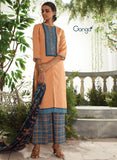 Ganga 3953 Orange & Blue Color Lawn Cotton Designer Suit