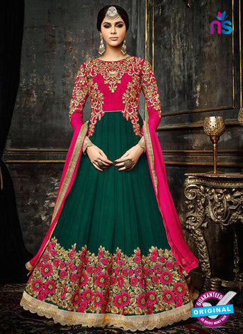 Safeena 3992 Green Anarkarli Suit