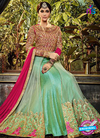 Safeena 3996 Green Indo Western Suit