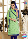 NS12230 Light Green and Blue Chudidar Suit