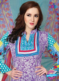 NS12276 Purple and Sea Green Pakistani Suit Online