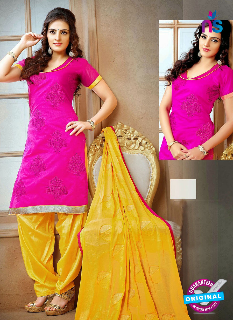 NS12242 Magenta and Yellow Chudidar Suit