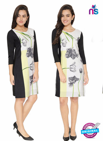 Maya 3 White Crepe Formal Kurti