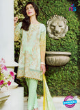 NS10969 Green and Orange Embroidered Lawn Salwar Suit