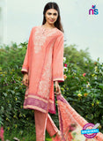 SC 13276 Peach Printed Cambric Lawn Cotton Pakistani Suit