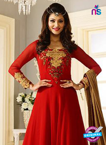 AZ 5205 Red Georgette Designer Anarkali Suit
