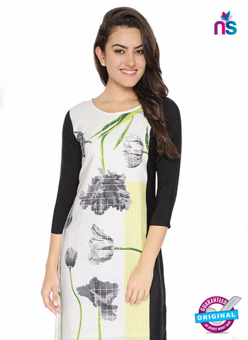 AZ 5185 White Crepe Formal Kurti
