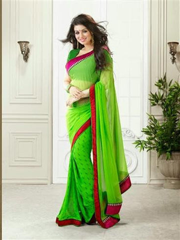 Vinay Fashion Star Walk 15365  Green Georgette Party Wear Saree