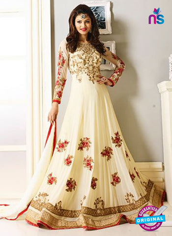 AZ 5206 Cream Georgette Designer Anarkali Suit