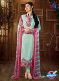 AZ 3659 Sky Blue Faux Georgette Party Wear Suit