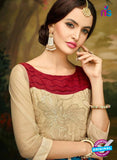 AZ 3503 Beige and Sky Blue Georgette Party Wear Suit - Salwar Suits - NEW SHOP