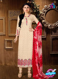 AZ 3660 Beige Faux Georgette Party Wear Suit
