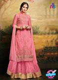Aashirwad  40003 Pink Georgette Party Wear Suit