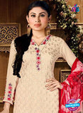 AZ 3660 Beige Faux Georgette Party Wear Suit Online
