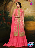 Aashirwad  40004 Pink Georgette Party Wear Suit