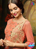 AZ 3507 Peach Georgette Indo Western Suit - Salwar Suits - NEW SHOP