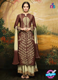 Aashirwad  40007 Brown Georgette Party Wear Suit