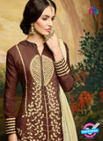 AZ 3508 Brown Georgette Party Wear Suit