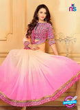 SC 13586 Pink Chiffon Fancy Function Wear Designer Saree