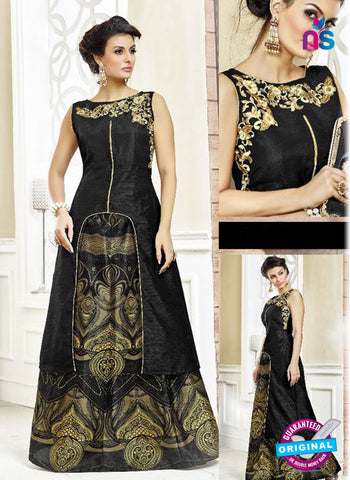 SC 42209 Black Designer Kurti with Lehenga