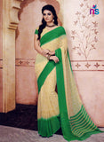 NS11202 Light Yellow and Green Daily Wear Printed Cotton Saree