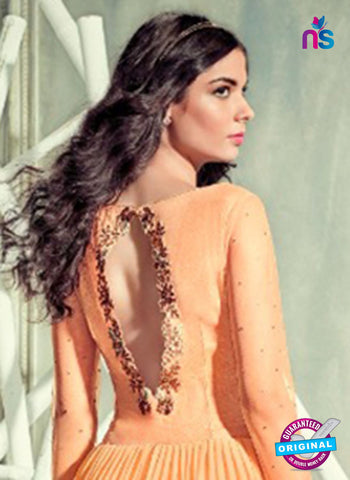Jinaam 4001 Orange Georgette Embroidery Party Wear Suit Online