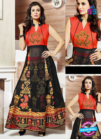 SC 42210 Red and Black Designer Kurti with Lehenga