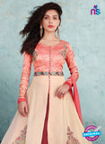 SC 13235 Peach Embroidered Georgette Designer Suit