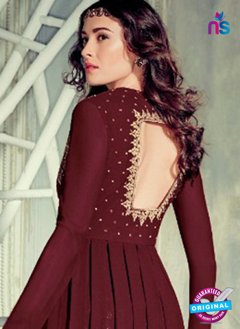 Jinaam 4003 Maroon Georgette Embroidery Party Wear Suit Online