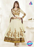 NS10198 Beige and Golden Anarkali Suit