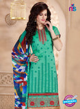 Maisha 4004 Sea Green and Red Chanderi Straight Suit