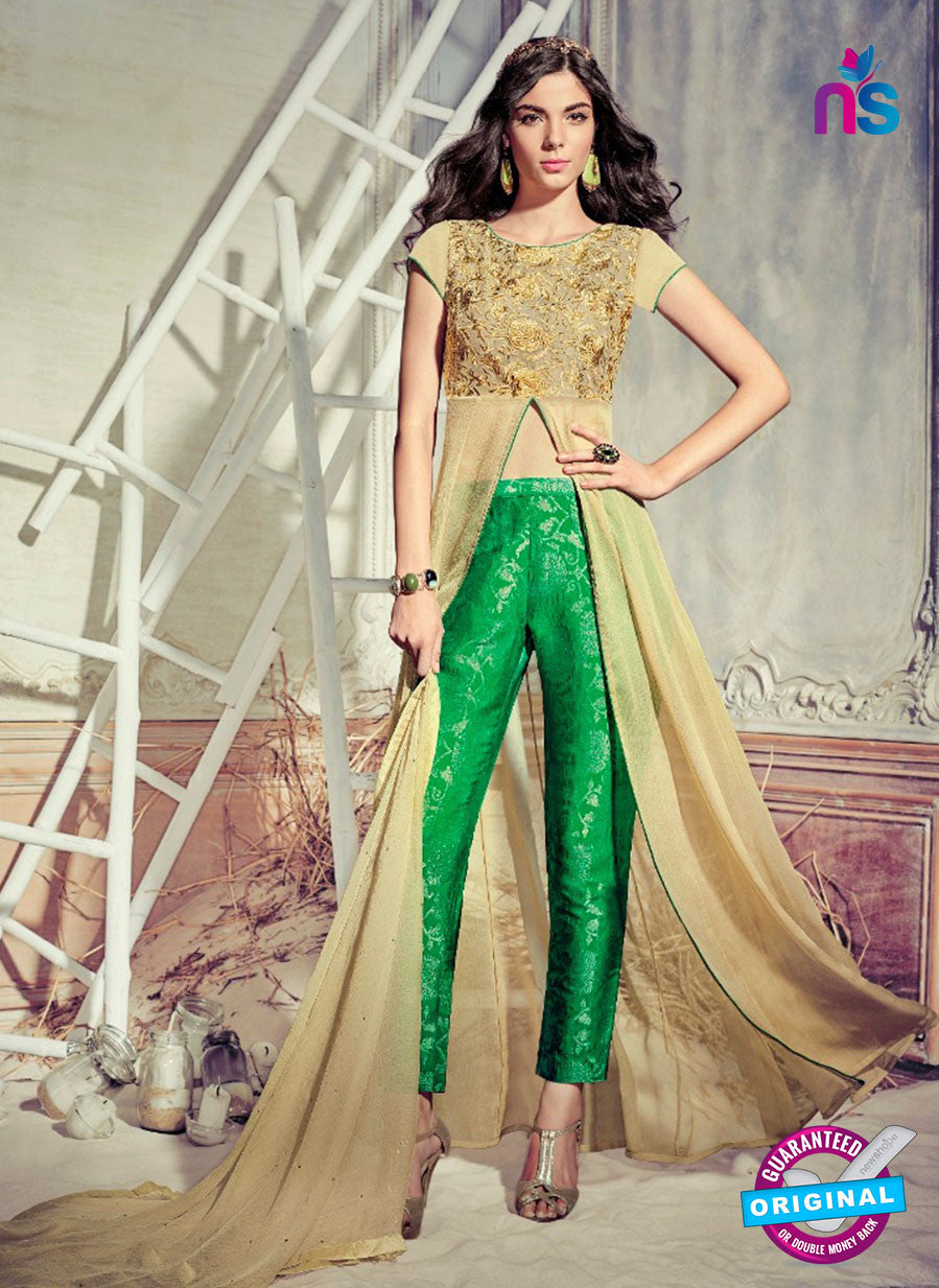 Jinaam 4005 Brown Chiffon Embroidery Party Wear Suit
