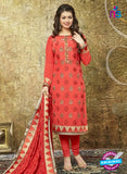 SC 13858 Orange Color Georgette Designer Fancy Exclusive Party Wear Straight Suit