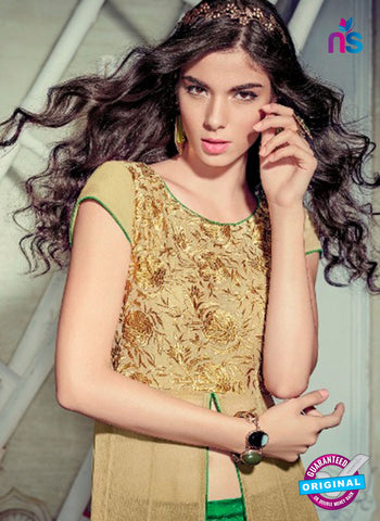 Jinaam 4005 Brown Chiffon Embroidery Party Wear Suit Online