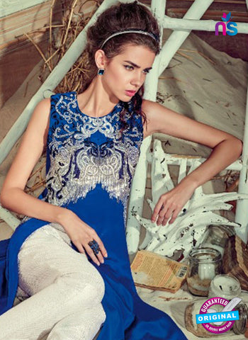 Jinaam 4007 Blue Crepe Embroidery Party Wear Suit Online