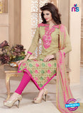 Maisha 4008 Brown and Pink Chanderi Straight Suit