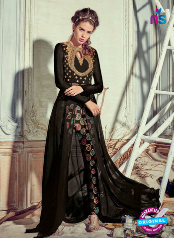Jinaam 4008 Black Georgette Embroidery Party Wear Suit