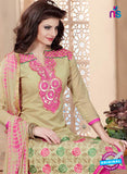 Maisha 4008 Beige and Pink Chanderi Straight Suit