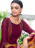 Ganga 4009 Maroon & Yellow Color Bemberg Georgette Designer Suit