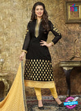 SC 13857 Black Color Georgette Designer Fancy Exclusive Party Wear Straight Suit