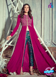 Jinaam 4010 Purple Georgette Embroidery Party Wear Suit