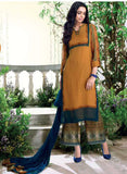 Ganga 4010 Yellow Color Bemberg Georgette Designer Suit