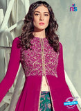 Jinaam 4010 Purple Georgette Embroidery Party Wear Suit Online