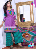 NS10078 Purple and Green Cotton Suit