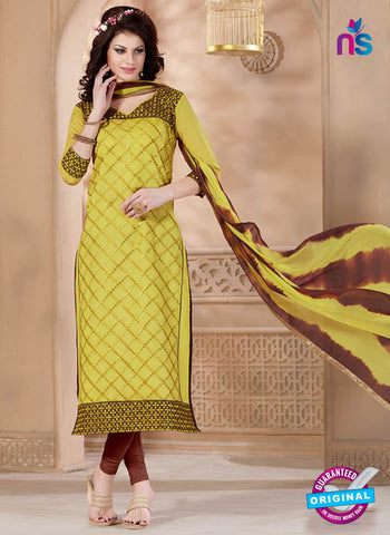 Maisha 4012 Yellow and Brown Straight Suit