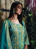 Ganga 4017 Blue Color Glace Cotton Designer Suit
