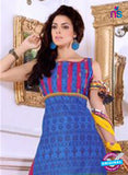 NS10083 Blue and Pink Cotton Suit